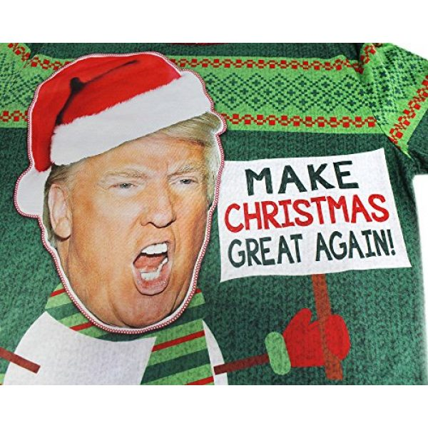 Faux Real Graphic Tshirt 2 Trump Shirt, Christmas Top for Adults (Green, Size Medium)