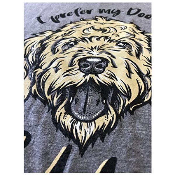 Ann Arbor T-shirt Co. Graphic Tshirt 5 I Prefer My Doods Golden   Funny Goldendoodle Golden Doodle Dog V-Neck T-Shirt