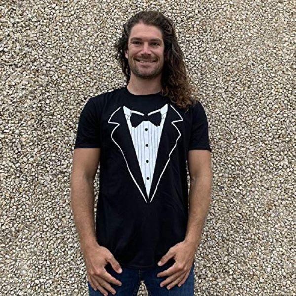 GunShowTees Graphic Tshirt 4 Men's Novelty Tuxedo with Bowtie Shirt