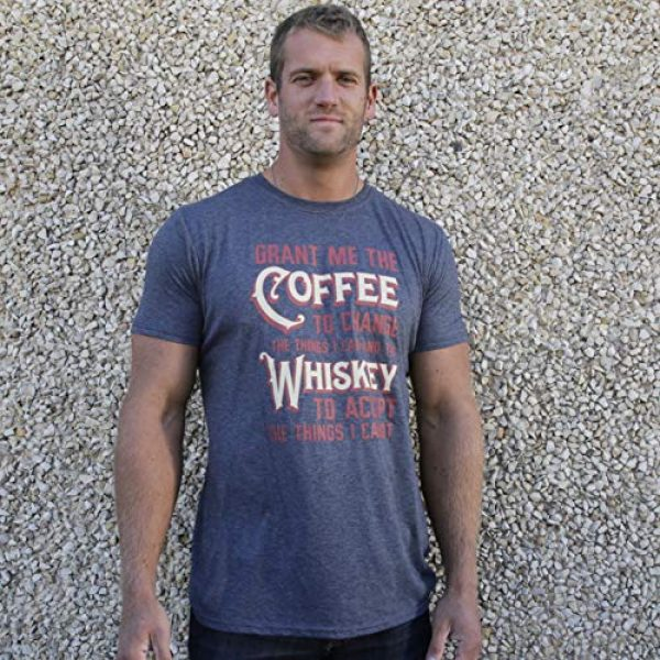 GunShowTees Graphic Tshirt 4 Men's Grant Me Coffee to Change Things I Can Whiskey to AcceptShirt