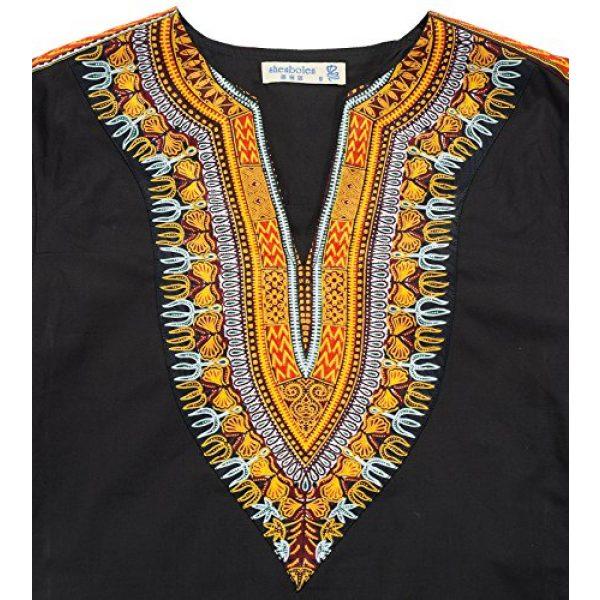 Shenbolen Graphic Tshirt 3 Men's African Print Shirt Dashiki Fashion T-Shirt Tops