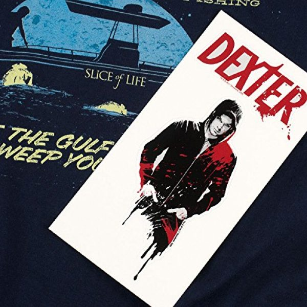 Popfunk Graphic Tshirt 6 Dexter Bay Harbour Moonlight Fishing T Shirt & Stickers