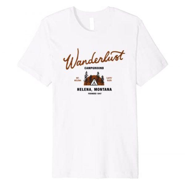 Wanderlust Campground Montana Gear Graphic Tshirt 1 Wanderlust Campground Premium T-Shirt