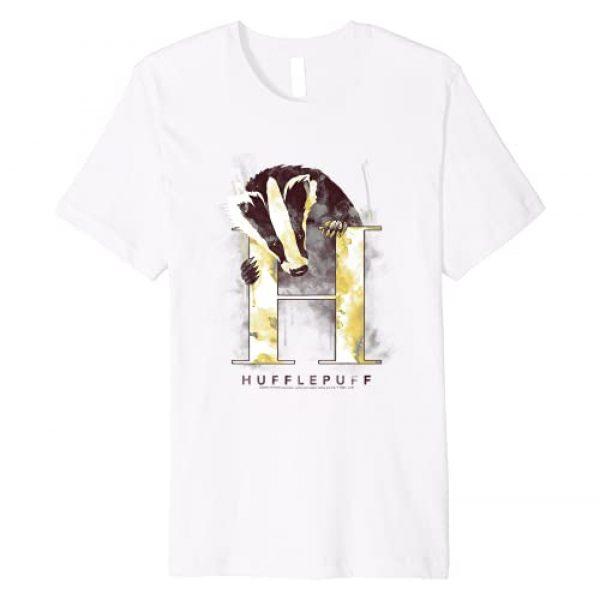 Harry Potter Graphic Tshirt 1 Hufflepuff House Watercolor Premium T-Shirt