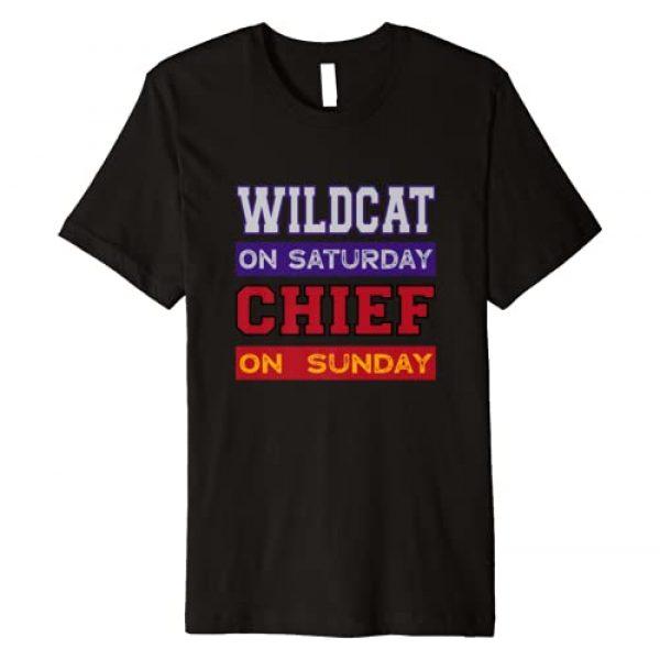 Wildcat on Saturday Chief on Sunday Kansas City Co Graphic Tshirt 1 Wildcat on Saturday Chief on Sunday Kansas City Football Premium T-Shirt