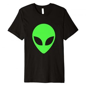 Funny Area 51 Tees & Gifts Graphic Tshirt 1 Green Alien Head 90's Style Funny Alien T-Shirt Premium T-Shirt