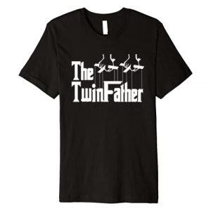 Miftees Graphic Tshirt 1 The TwinFather funny father of twins funny dad fathers day Premium T-Shirt
