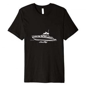MSJ World .Co Graphic Tshirt 1 Sea Ray 320 Line Drawing White Printed On Front Premium T-Shirt