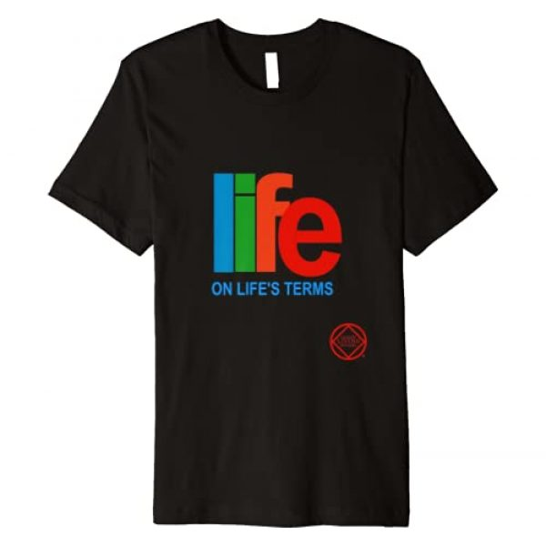 Clean Living Apparel Graphic Tshirt 1 Life On Life's Terms Narcotics Anonymous Gifts Shirts NA AA Premium T-Shirt