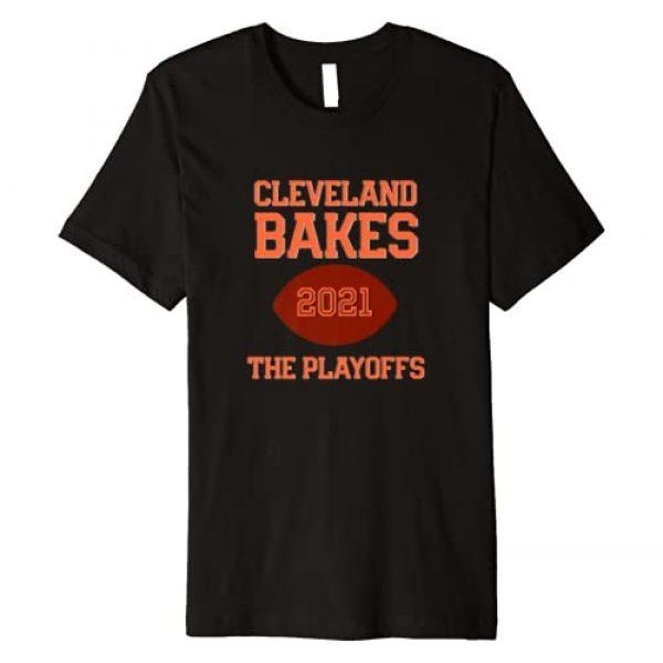 Brown and Orange Gear Graphic Tshirt 1 Cleveland Bakes Playoffs 2021 Football Premium T-Shirt