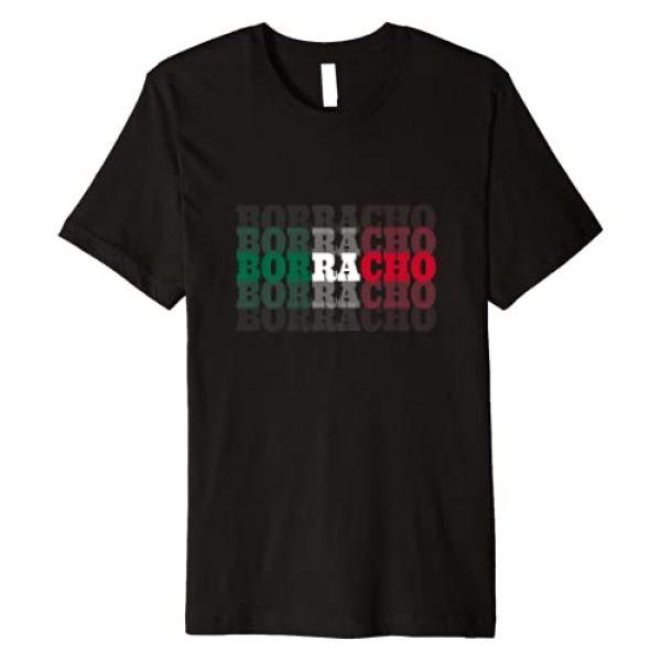 Cinco De Mayo Party Tops Graphic Tshirt 1 Borracho Quote Mexican Flag Cinco De Mayo Funny Slogan Premium T-Shirt