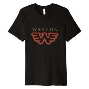 Waylon Jennings Graphic Tshirt 1 Flying W Logo - Official Merchandise Premium T-Shirt