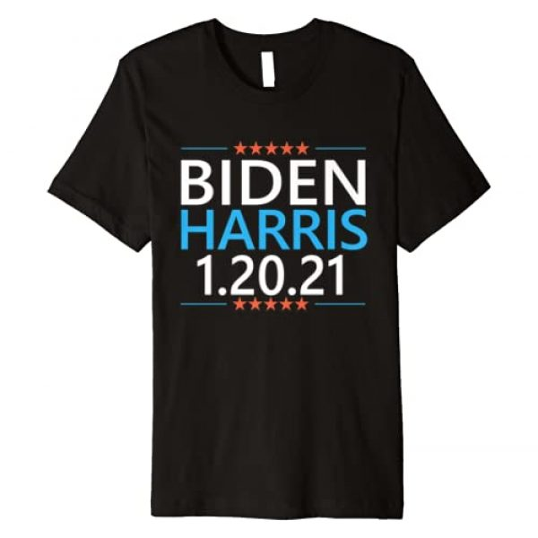 1/20/21 Joe Biden Kamala Harris Inauguration Gift Graphic Tshirt 1 Biden Harris 1.20.21 Inauguration Day Trump's Last Day Quote Premium T-Shirt