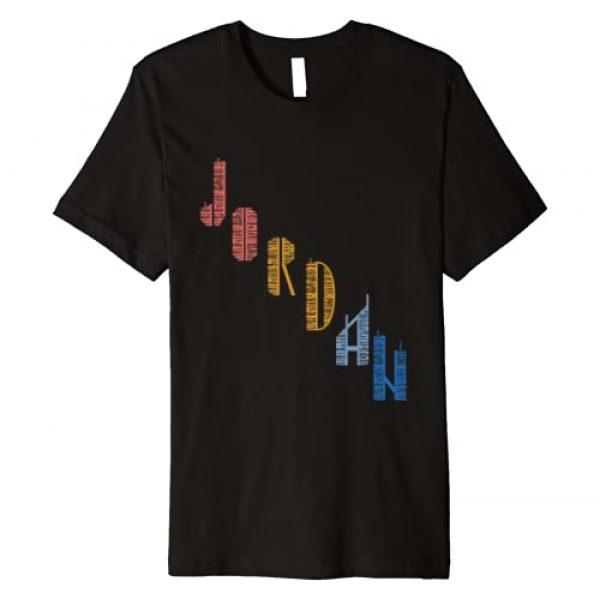 Jordan Cool 1980s t-shirt Graphic Tshirt 1 Vintage Jordan t shirt with Skyscarper Jordan Premium T-Shirt