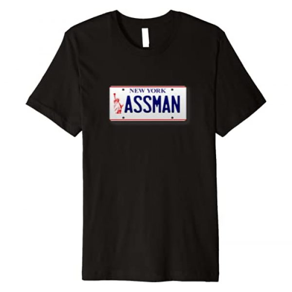 Giddy Up Special-Tees Graphic Tshirt 1 Assman New York License Plate Funny Premium T-Shirt