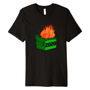 Miftees Graphic Tshirt 1 2020 Dumpster Fire Novelty 2020 Bad Year Premium T-Shirt