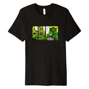 Junji Ito Graphic Tshirt 1 Melting Monster Man Back Print Premium T-Shirt