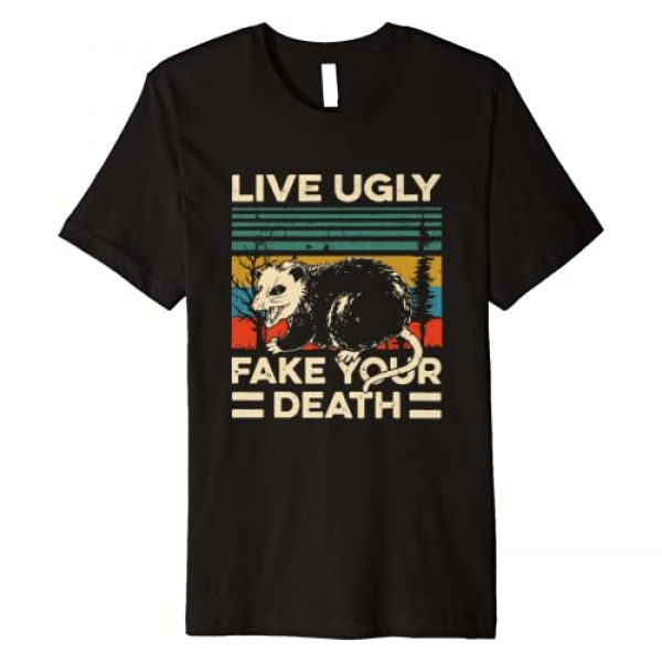 Live Ugly Possum Shirt Fake Your Death Vintage tee Graphic Tshirt 1 Live Ugly Possum Shirt Fake Your Death Funny Opossum Premium T-Shirt