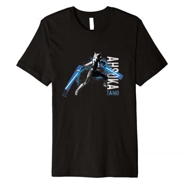 Star Wars Graphic Tshirt 1 The Clone Wars Ahsoka Tano Dual Lightsabers Premium T-Shirt