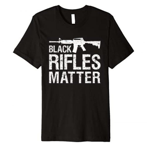 Pro Gun Rights Apparel Graphic Tshirt 1 Black Rifles Matter 2nd Amendment Gun Rights Premium T-Shirt