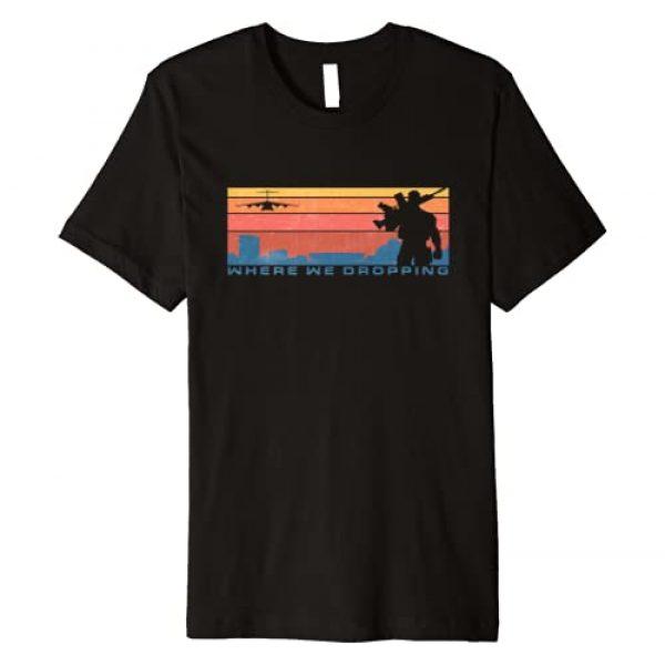 The Creative Armory Graphic Tshirt 1 Warzone Verdansk, Where We Dropping Premium T-Shirt