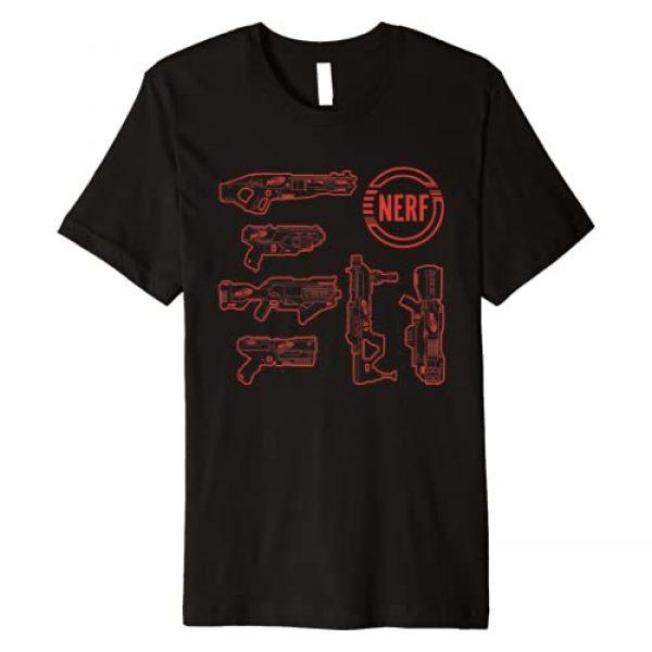 NERF Graphic Tshirt 1 Blasters Outlines Premium T-Shirt