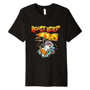 Wowsome! Graphic Tshirt 1 Roast Beef Cow On Beach Vacation Sun Tan Kids Men Women Premium T-Shirt