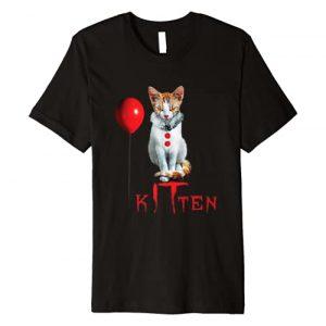 EZ BLUZ Graphic Tshirt 1 Clown Cat Kitten Halloween Premium T-Shirt