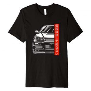 Automotive Apparel 1 Graphic Tshirt 1 Skyline 34 JDM Tuning Auto 90s Underground Gaming Retro Gift Premium T-Shirt