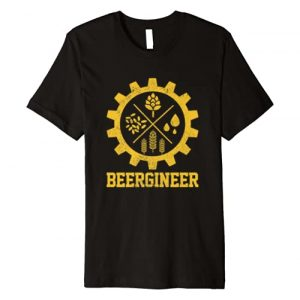 Home Brewing Apparel & Craft Beer Brewer Gifts Graphic Tshirt 1 Beergineer Homebrew Home Brewing Craft Beer Brewer Gift Premium T-Shirt
