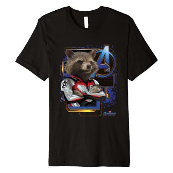 Marvel Graphic Tshirt 1 Avengers Endgame Rocket Logo Premium T-Shirt