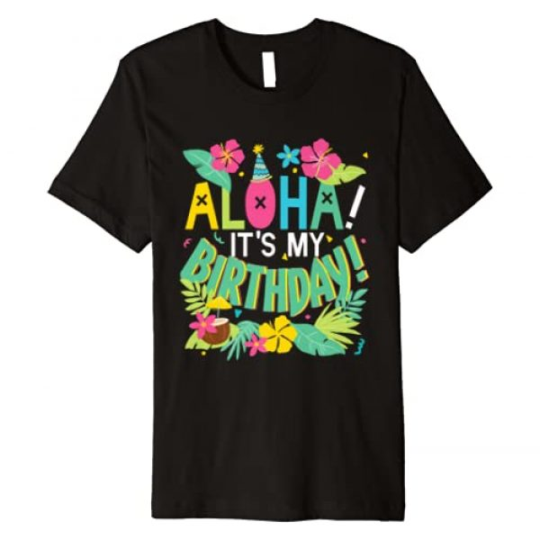 Funny Birthday Gift Tees Graphic Tshirt 1 Funny Hawaii Birthday Party Aloha Hawaiian T-shirt Gift
