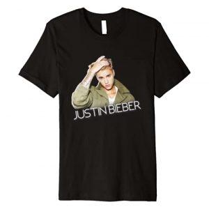 Justin Bieber Graphic Tshirt 1 Official Cut Out Jacket Premium T-Shirt