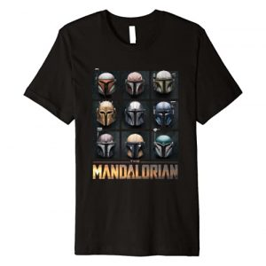 Star Wars Graphic Tshirt 1 The Mandalorian Helmet Box Up Premium T-Shirt