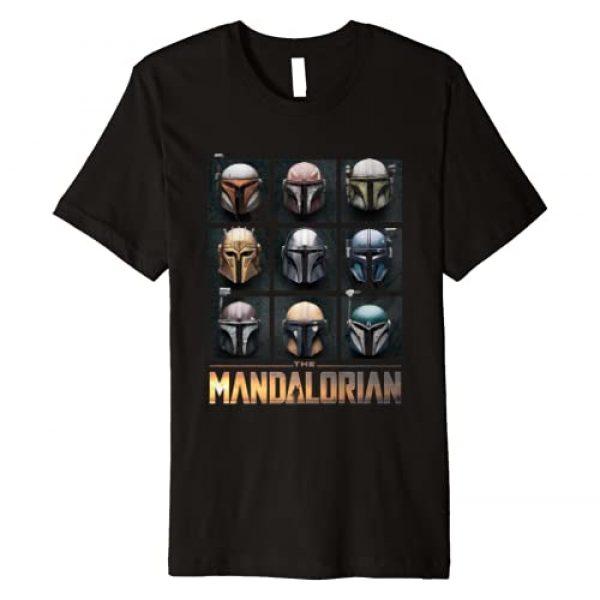 Star Wars Graphic Tshirt 1 The Mandalorian Helmet Box Up Premium T-Shirt