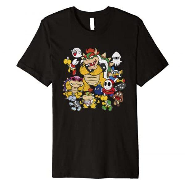 SUPER MARIO Graphic Tshirt 1 Nintendo Super Mario Bowser Enemy Group Premium T-Shirt