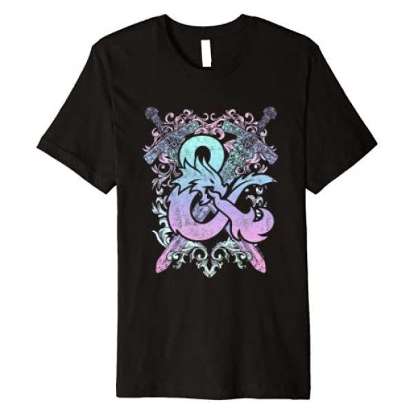 Dungeons & Dragons Graphic Tshirt 1 Ampersand Pastel Logo Premium T-Shirt