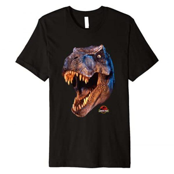 Jurassic Park Graphic Tshirt 1 Big T-Rex Head Graphic Premium T-Shirt