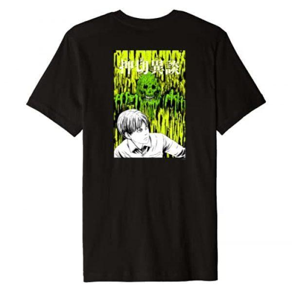 Junji Ito Graphic Tshirt 2 Melting Monster Man Back Print Premium T-Shirt