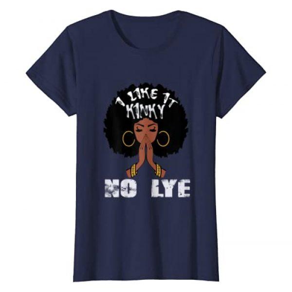 R Designer Graphic Tshirt 1 I Like It Kinky No Lye Black Afro Queen Natural Hair Gift T-Shirt