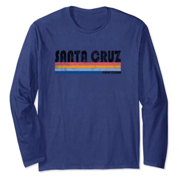 Santa Cruz Long Sleeve Tshirt Graphic Tshirt 1 Vintage 1980s Style Santa Cruz CA Long Sleeve T Shirt