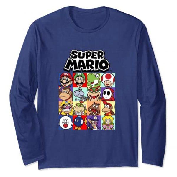 SUPER MARIO Graphic Tshirt 1 Nintendo Super Mario Full Cast Box-Up Long Sleeve Tee