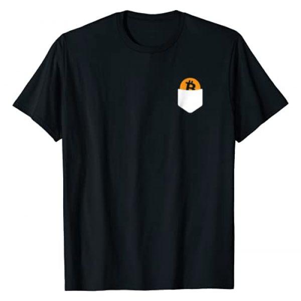 Bitcoin Moon Vibes Tees Graphic Tshirt 1 Bitcoin Pocket Funny Blockchain Crypto HODL Lover T-Shirt