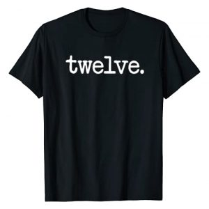 "12th Birthday Gift T-Shirt Co. Graphic Tshirt 1 12 Years Old ""twelve."" - 12th Birthday Gift T-Shirt"