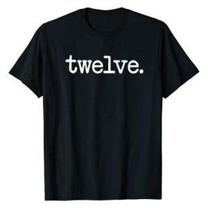 """12th Birthday Gift T-Shirt Co. Graphic Tshirt 1 12 Years Old """"twelve."""" - 12th Birthday Gift T-Shirt"""