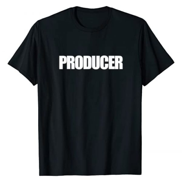 Below Normal Tees Graphic Tshirt 1 PRODUCER T-Shirt Film or Music Production On Set ID
