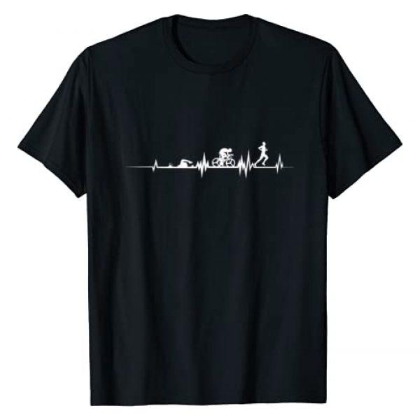 Athletics Sports Apparel by ASPO Clothing Graphic Tshirt 1 Triathlon Heartbeat Swim Cycle Run Athletes T-Shirt