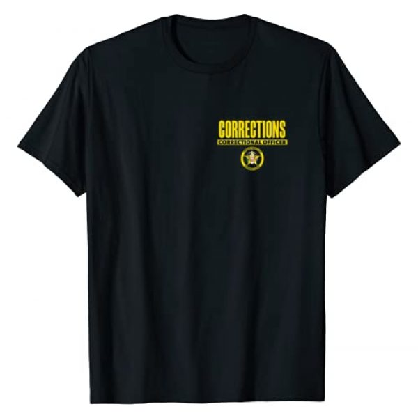 Tactical Corrections Officer Uniform Apparel Graphic Tshirt 1 Correctional Prison Officer Thin Gray Line Flag Duty T-Shirt