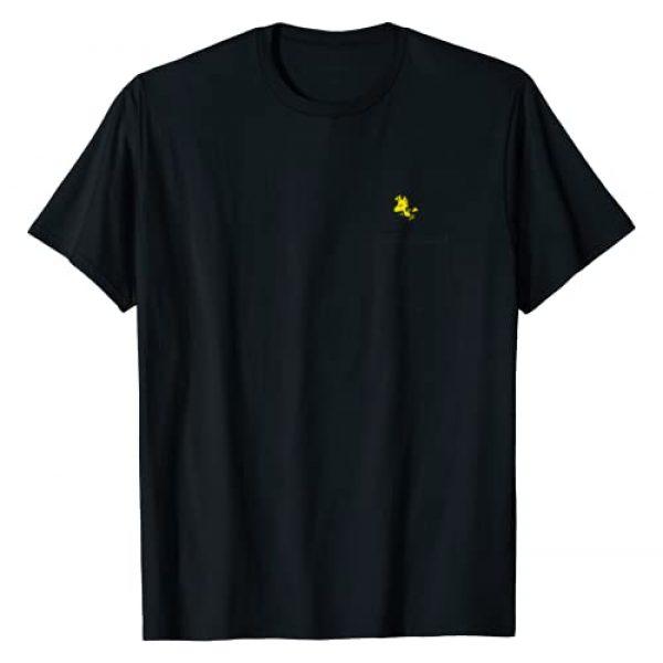Peanuts Graphic Tshirt 1 Woodstock Faux Pocket T-Shirt