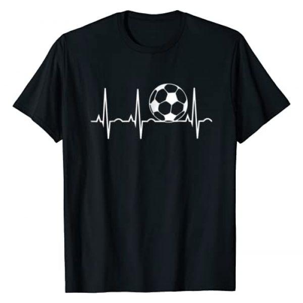 Soccer Heartbeat T-Shirt & Soccer Player Tees Graphic Tshirt 1 Soccer Heartbeat T-Shirt - Soccer Ball Heartbeat Tee